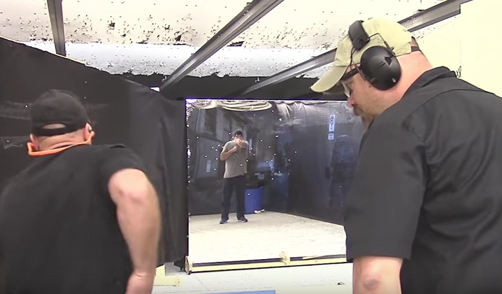 Screen Shot 2017 07 10 at 10.16.07 AM - (VIDEO) 'Live' pistol training with a loaded handgun and 'real' target