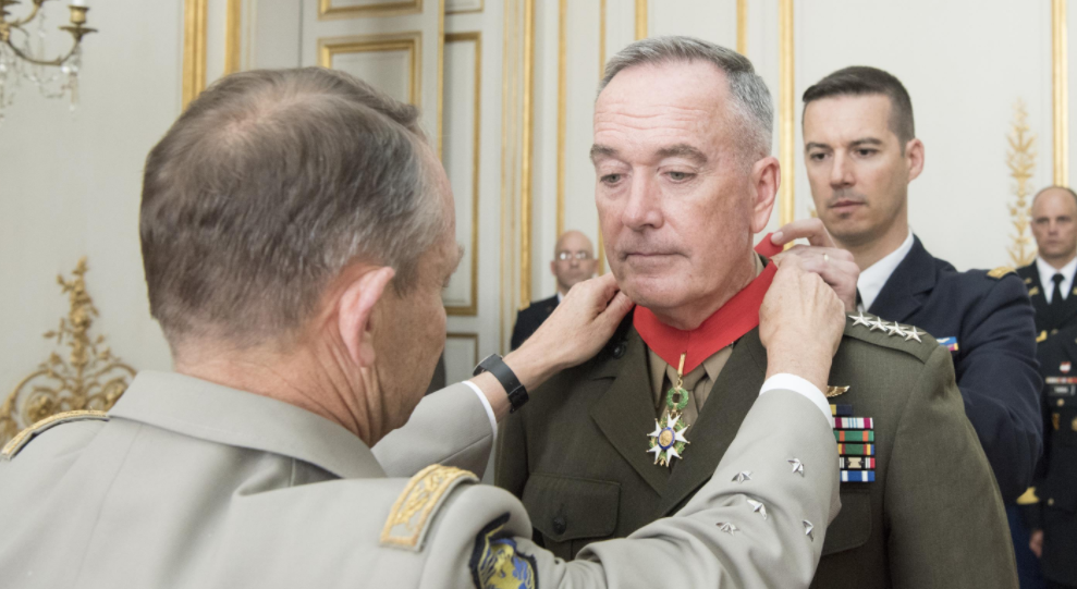 Screen Shot 2017 07 17 at 2.11.22 PM - France awards US Marine Corps general the country's top honor for military merit