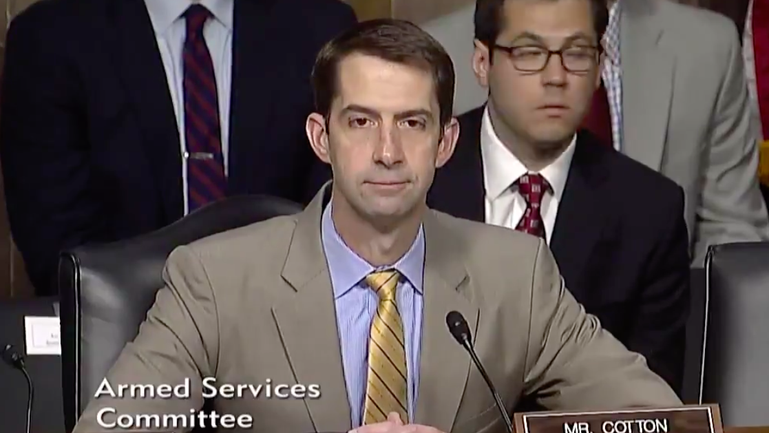 Screen Shot 2017 07 17 at 4.06.27 PM - Sen. Tom Cotton trashes Obama's Navy Secretary, says new nominee must 'restore credibility'
