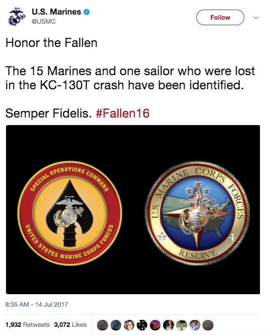 Screen Shot 2017 07 17 at 9.20.47 AM - Marine Corps identifies the 16 service members who died in Mississippi plane crash