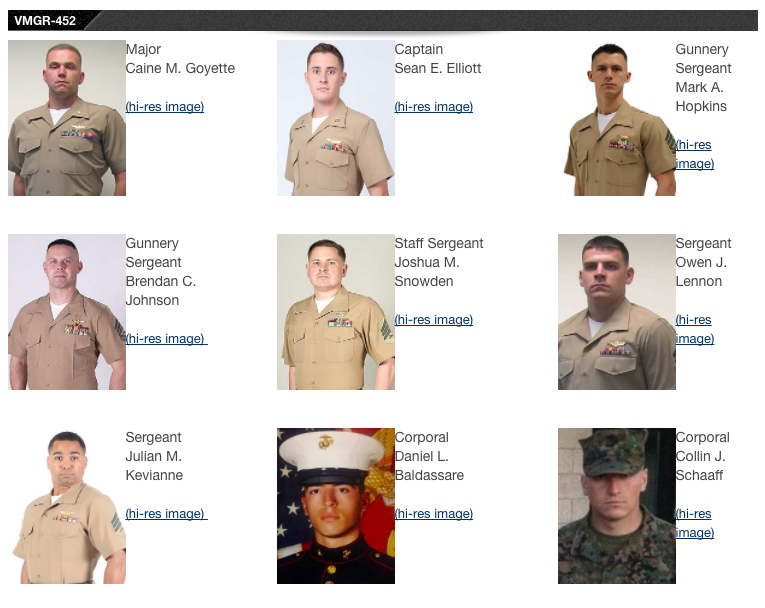 Screen Shot 2017 07 17 at 9.36.28 AM - Marine Corps identifies the 16 service members who died in Mississippi plane crash