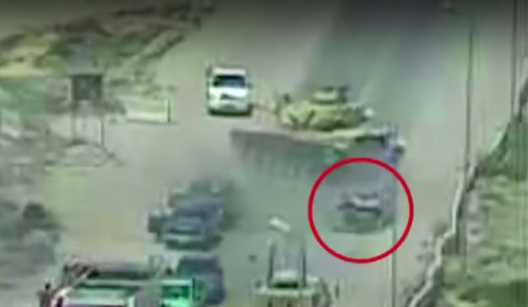 Screen Shot 2017 07 25 at 1.41.46 PM - Egyptian tank thwarts attack by running over vehicle with explosives inside