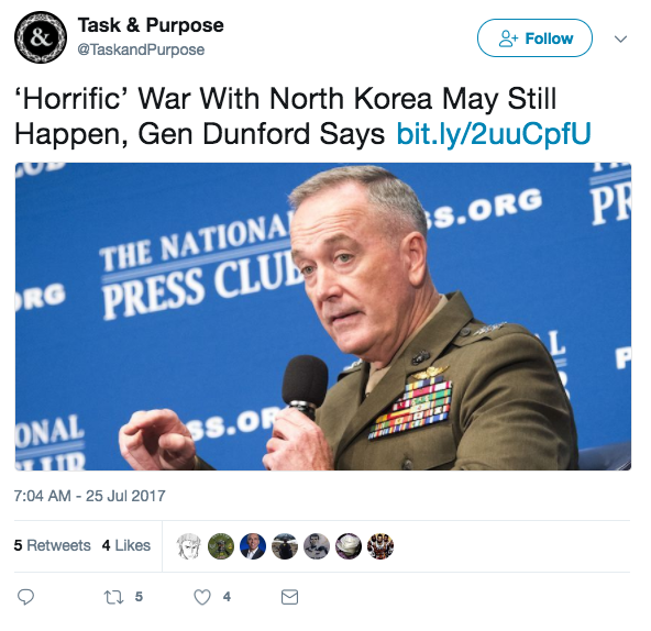 Screen Shot 2017 07 27 at 12.51.26 PM - Joint Chiefs Chairman: 'It's unimaginable to let North Korea have an ICBM that could hit Denver'