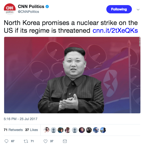 Screen Shot 2017 07 27 at 2.05.26 PM - North Korea threatens 'merciless nuclear hammer blow at heart of US' for speaking about Kim Jong Un