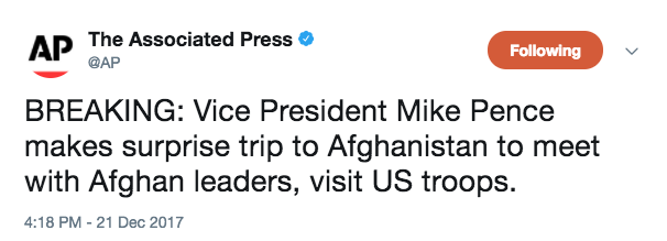 Screen Shot 2017 12 21 at 4.19.45 PM - Vice President Pence makes surprise visit to Afghanistan to visit troops for Christmas