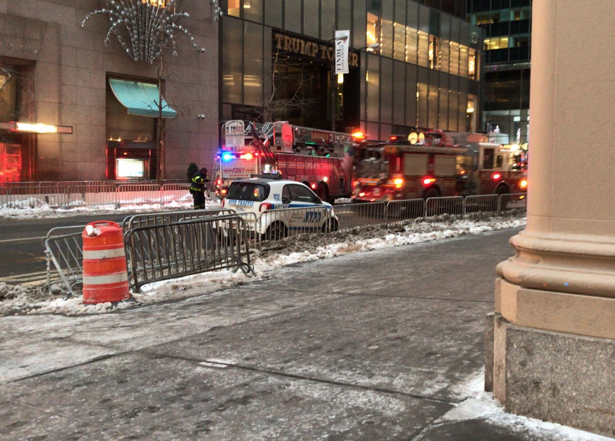 Screen Shot 2018 01 08 at 7.48.56 AM - Trump Tower in Manhattan was on fire (Photos/Video)