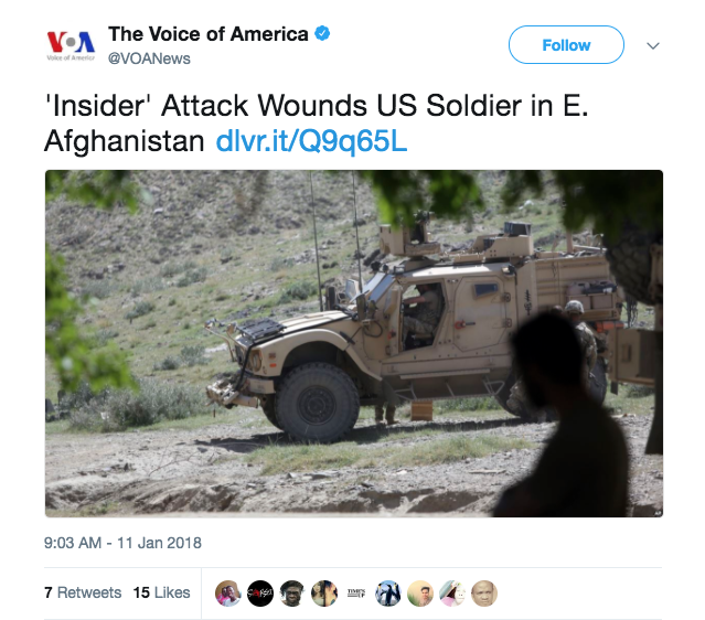 American soldier wounded in Afghan attack