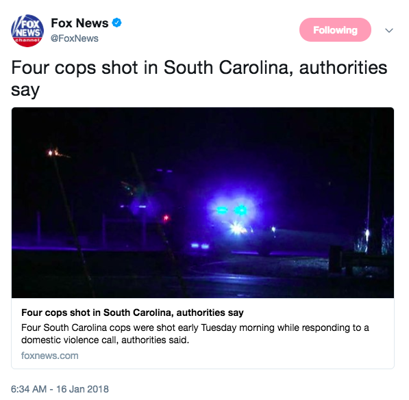 3 deputies, police officer shot in SC