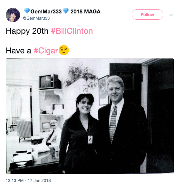 Screen Shot 2018 01 17 at 2.28.16 PM - Bill Clinton's sex scandal with Monica Lewinsky was exposed 20 years ago today