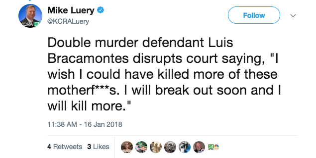 Screen Shot 2018 01 18 at 2.13.12 PM - Illegal alien who killed two cops shouts in court: 'I wish I killed more motherf**kers'