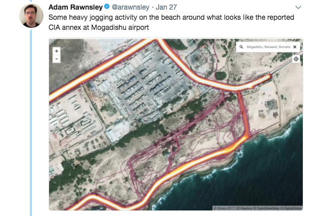 Screen Shot 2018 01 29 at 10.06.18 AM - Overseas soldiers are exposing sensitive military locations by using fitness tracking devices