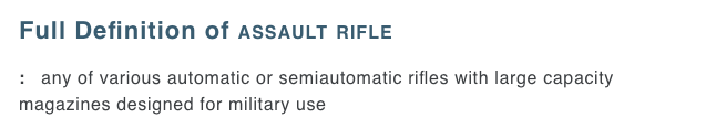 Screen Shot 2018 04 03 at 10.16.03 AM - Merriam-Webster changes 'assault rifle' in dictionary after school shooting