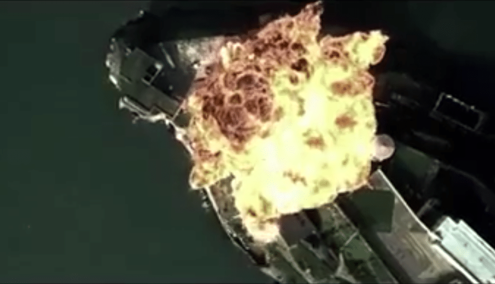 China releases video of simulated bombing attack on US military base