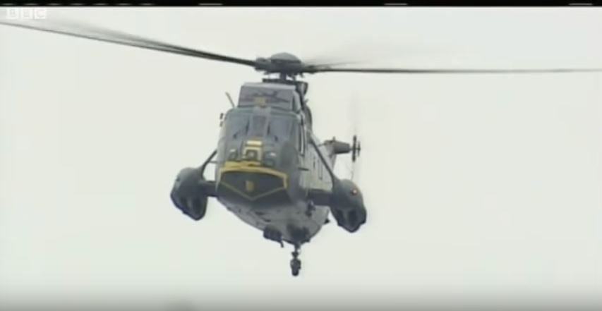 Watch Prince William Land A Sea King Helicopter On Water During A Search & Rescue Maneuver Featured