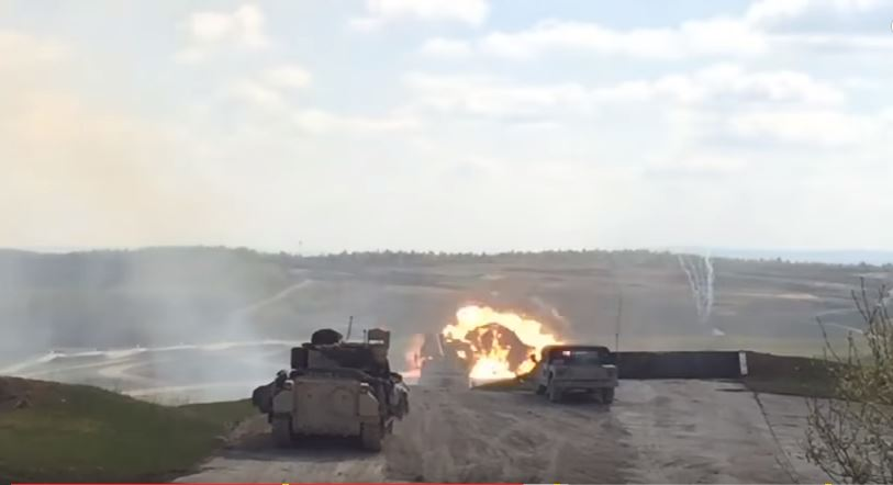 Show of Force - Tank gunnery competition footage sends a message of US military power like no other