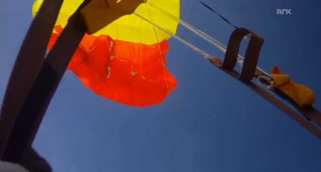 (Video) This Skydiver Just Narrowly Misses Being Hit By Meteor Featured