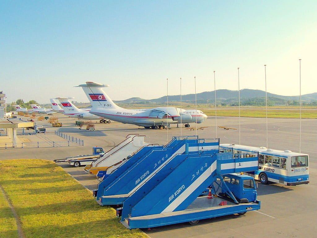 North Korea assembles large fleet of military aircraft at coastal airport