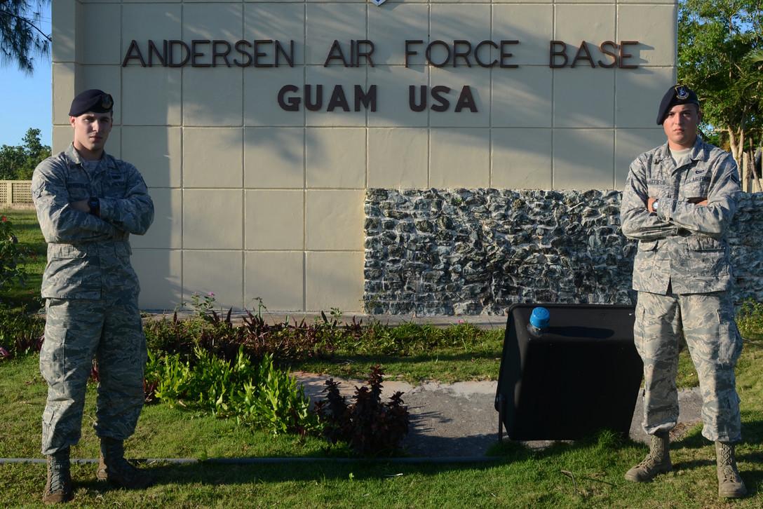 Gate rammer shot dead at Andersen Air Force Base