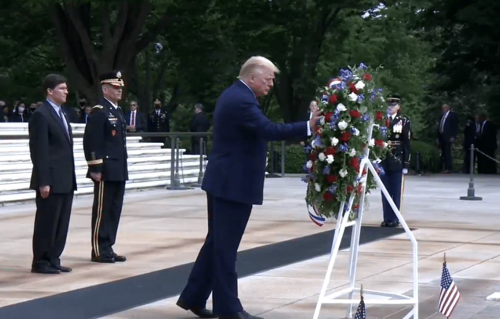 Video/Pics: Trump honors fallen at Tomb of the Unknown Soldier