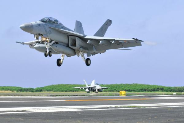 Two-dead-after-fleeing-SUV-crashes-into-Navy-fighter-jet