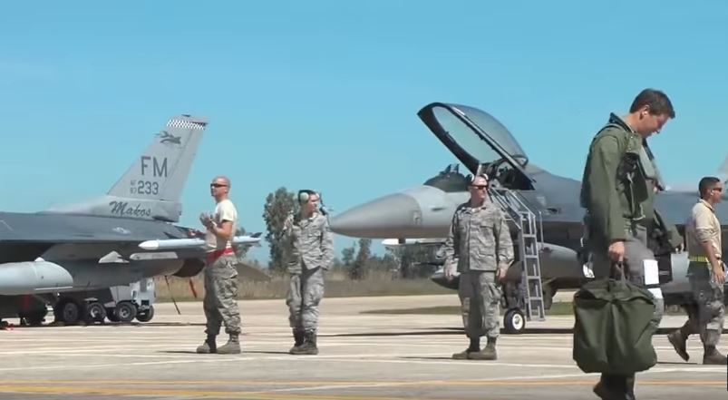 U.S. Air Force personnel in Greece - U.S. Air Force F-16 Fighting Falcon Makos Goes To Greece For INIOHOS-17 Exercise