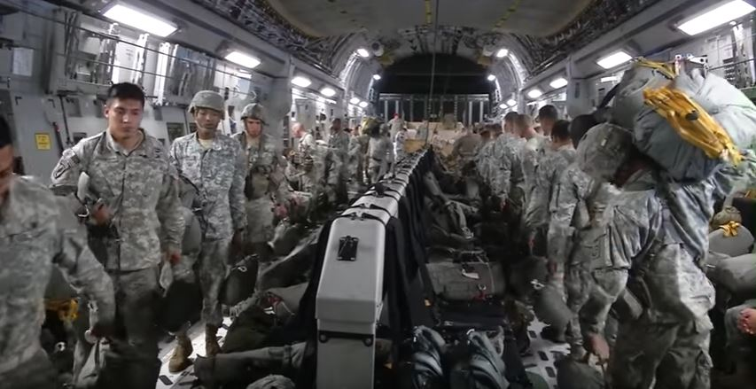 GoPro Video Taken Of 82nd Airborne Division Doing A Massive Drop Exercise From A C-17 Featured