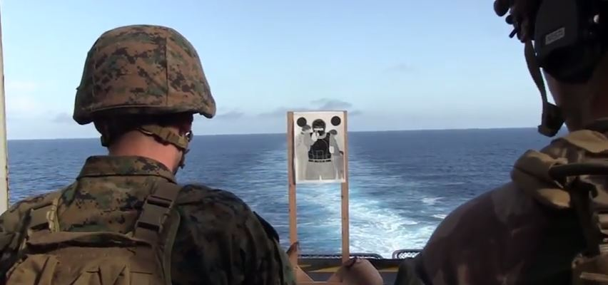 U.S. Marine French Exercise - Watch U.S. Marines Conduct A Bilateral Deck Shoot With French Commando Marines Aboard The French Ship BPC Mistral