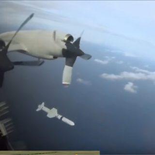 U.S. Navy Harpoon Missile fired at SINKEX during RIMPAC.