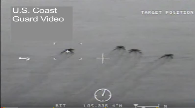 (VIDEO) U.S. Coast Guard High Seas Chases & Interceptions Of Suspected Drug Smuggling Boats Featured