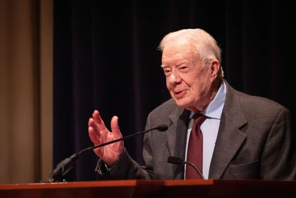 Former President Jimmy Carter fractures pelvis in fall at home
