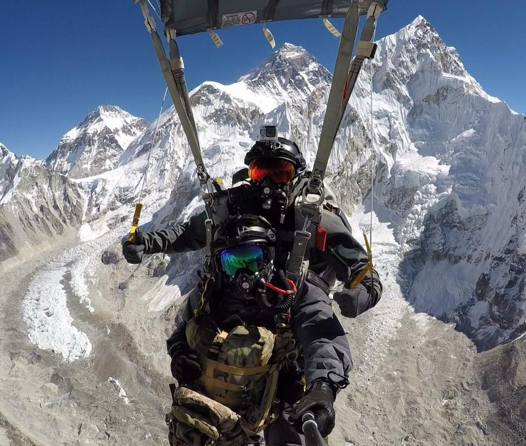 US Navy contractor parachute group to attempt record freefall at Mount Everest