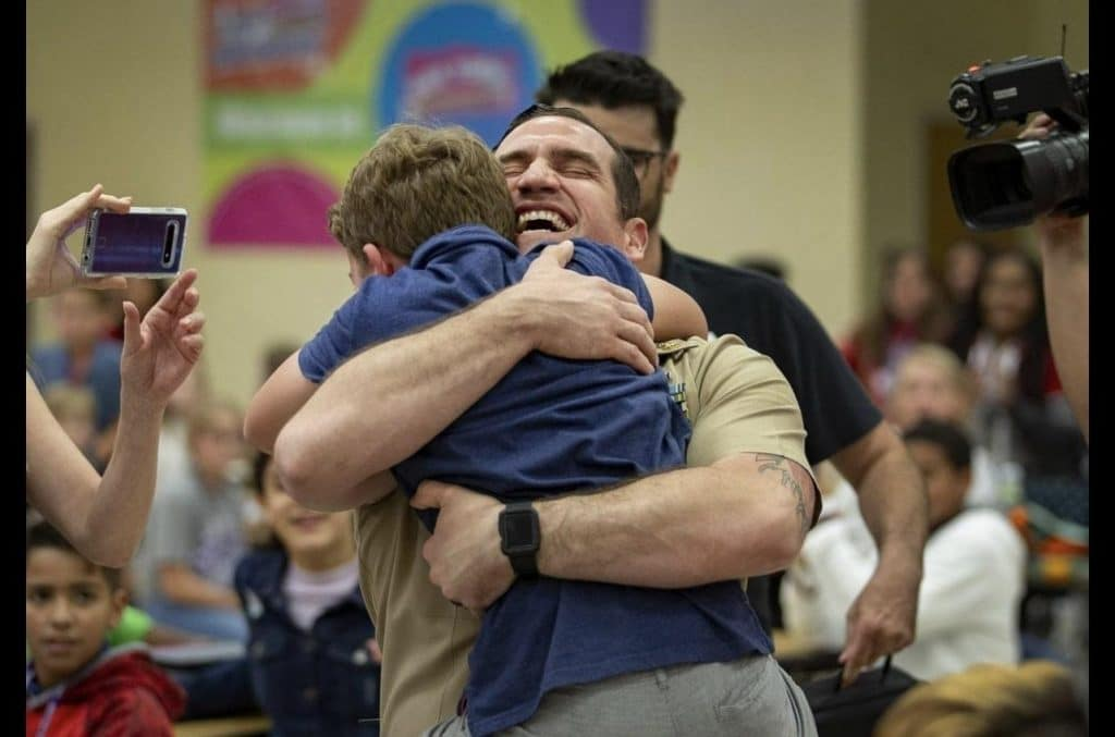 VIDEO/PICS: FL military dad surprises children with emotional homecoming at schools