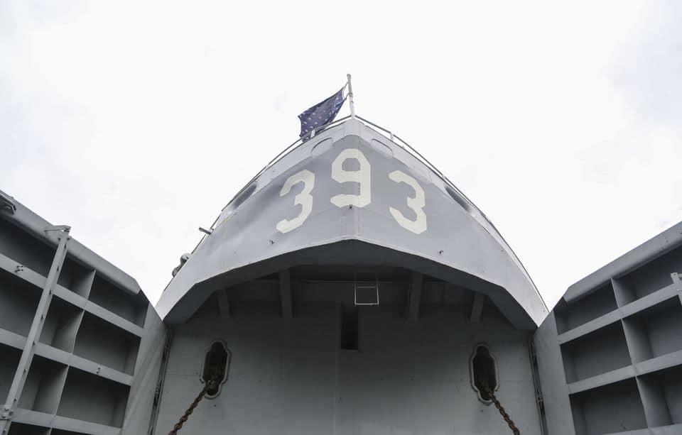 Historic WWII warship honor coronavirus first responders in Michigan