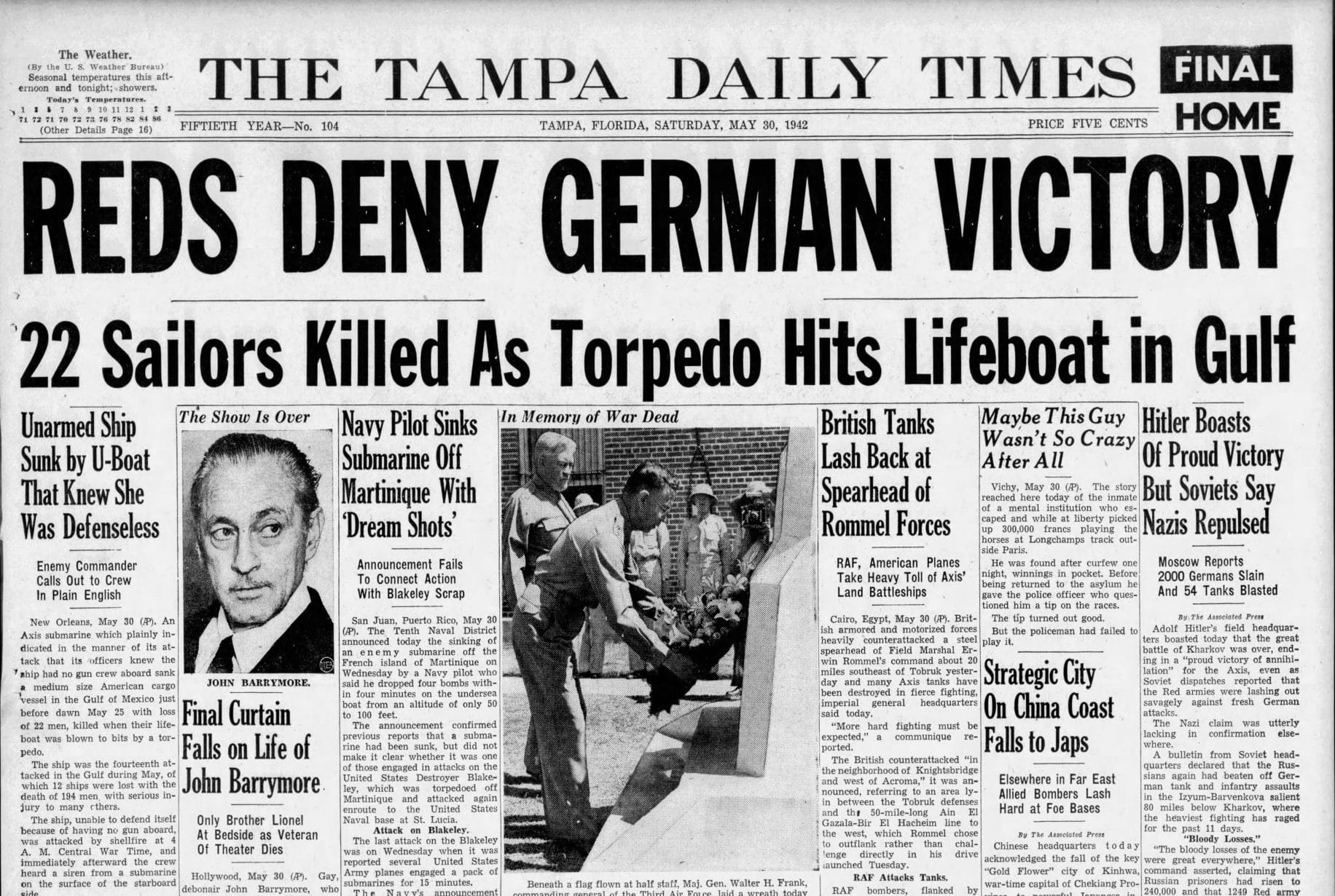 Nazi submarines brought the fight to Florida during WWII