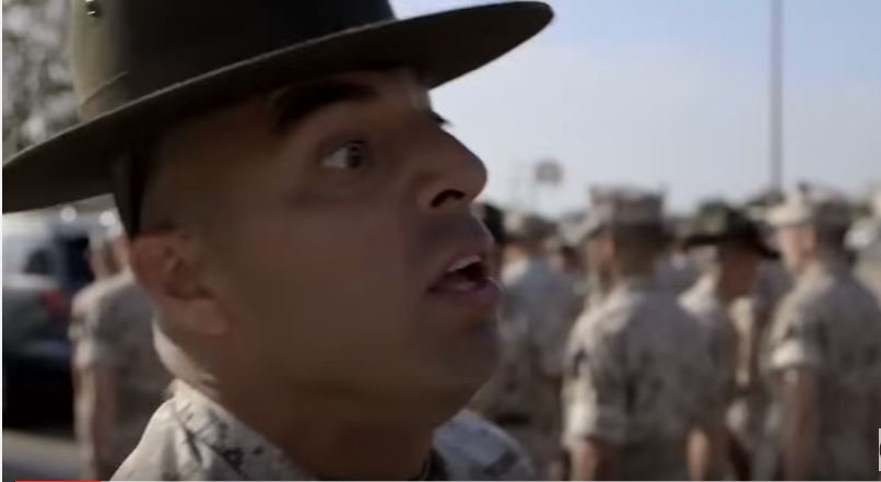 Watch Intense Marine Corps Drill Instructors During A Boot Camp Inspection Featured