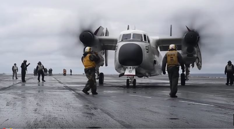 See Flight Operations Aboard The USS Dwight D. Eisenhower In The Atlantic Ocean Featured