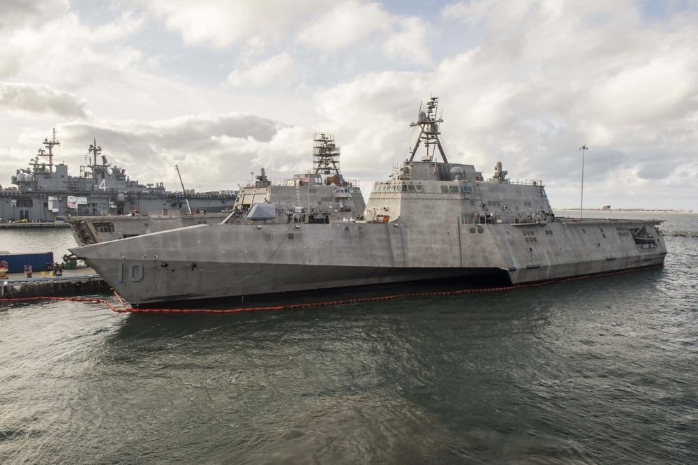 US Navy ship is carrying a powerful new missile near South China Sea