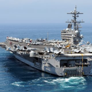 USS George H.W. Bush CVN 77 320x320 - DEATH FROM ABOVE: The USS George H.W. Bush Deploys To Fight Islamic State
