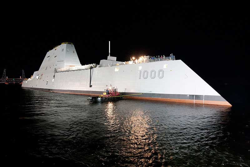 New Destroyer Equipped With Lasers And Rail Guns Featured
