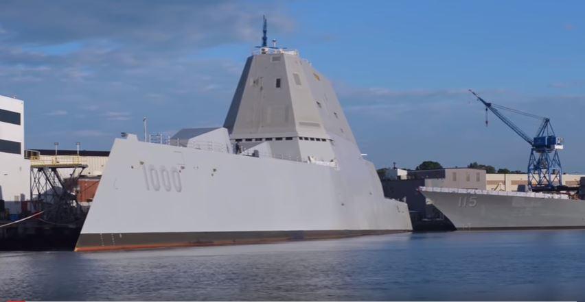 USS Zumwalt Port Side - A first look inside life aboard the new class of US Navy stealth destroyer, the USS Zumwalt