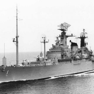 USS Northampton CLC 1 underway c1959 320x320 - Listen To A WWII Veteran And USS Northampton Torpedo Attack Survivor Recount The Sinking Of The Massive Cruiser