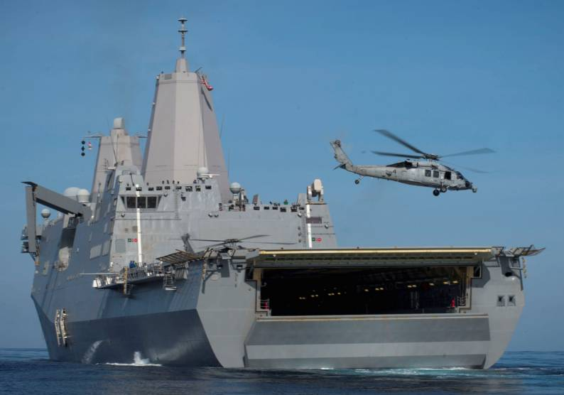 USS San Diego LPD 22 - (VIDEO) Watch U.S. Marines Conduct Flight Operations From The Deck Of The USS San Diego