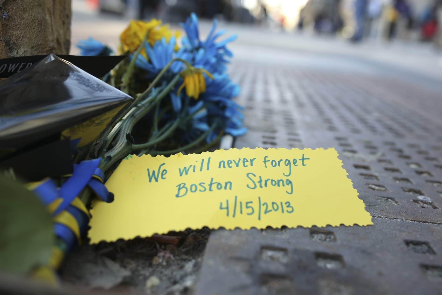 Memorial to marathon bombing victims takes shape in Boston