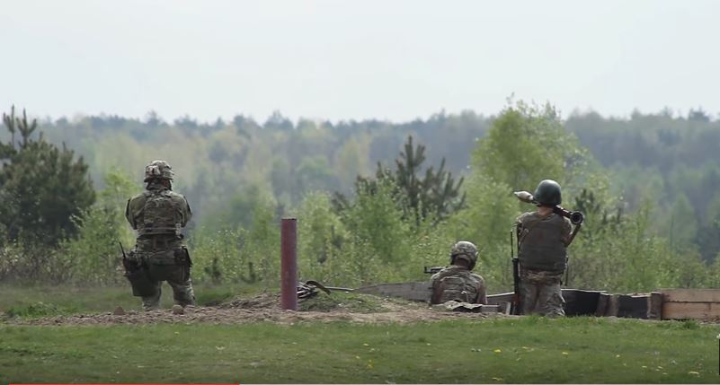 Ukrainian Army Firing RPGs - Watch U.S. Soldiers Train The Ukrainian Army To Fire Rocket-Propelled Grenades