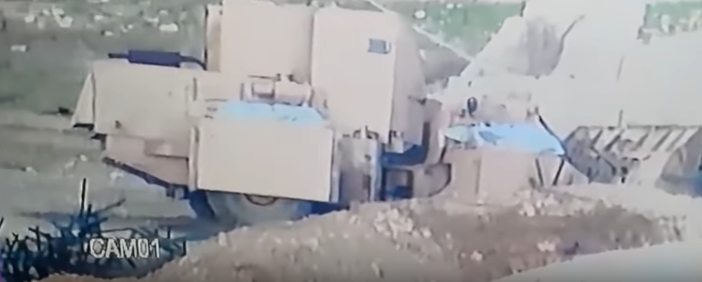 Drone Footage: Bulldozer VBIED Destroyed By Iraqi Rocket Fire Featured