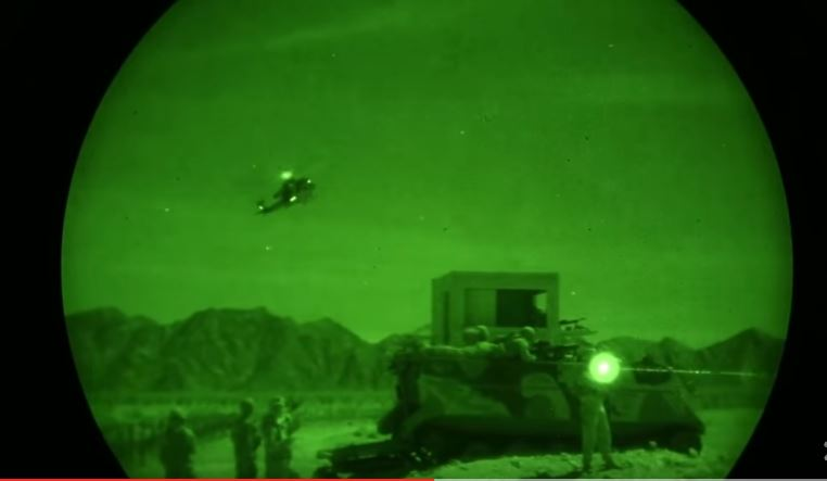 Venom Night Attack - (VIDEO) Night Vision Footage Of The Super Huey Helicopter During Urban Close Air Support Exercise