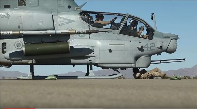 (VIDEO) U.S. Marines Refuel AH-1Z Viper Helicopters In A Forward Arming Refueling Point Exercise Featured
