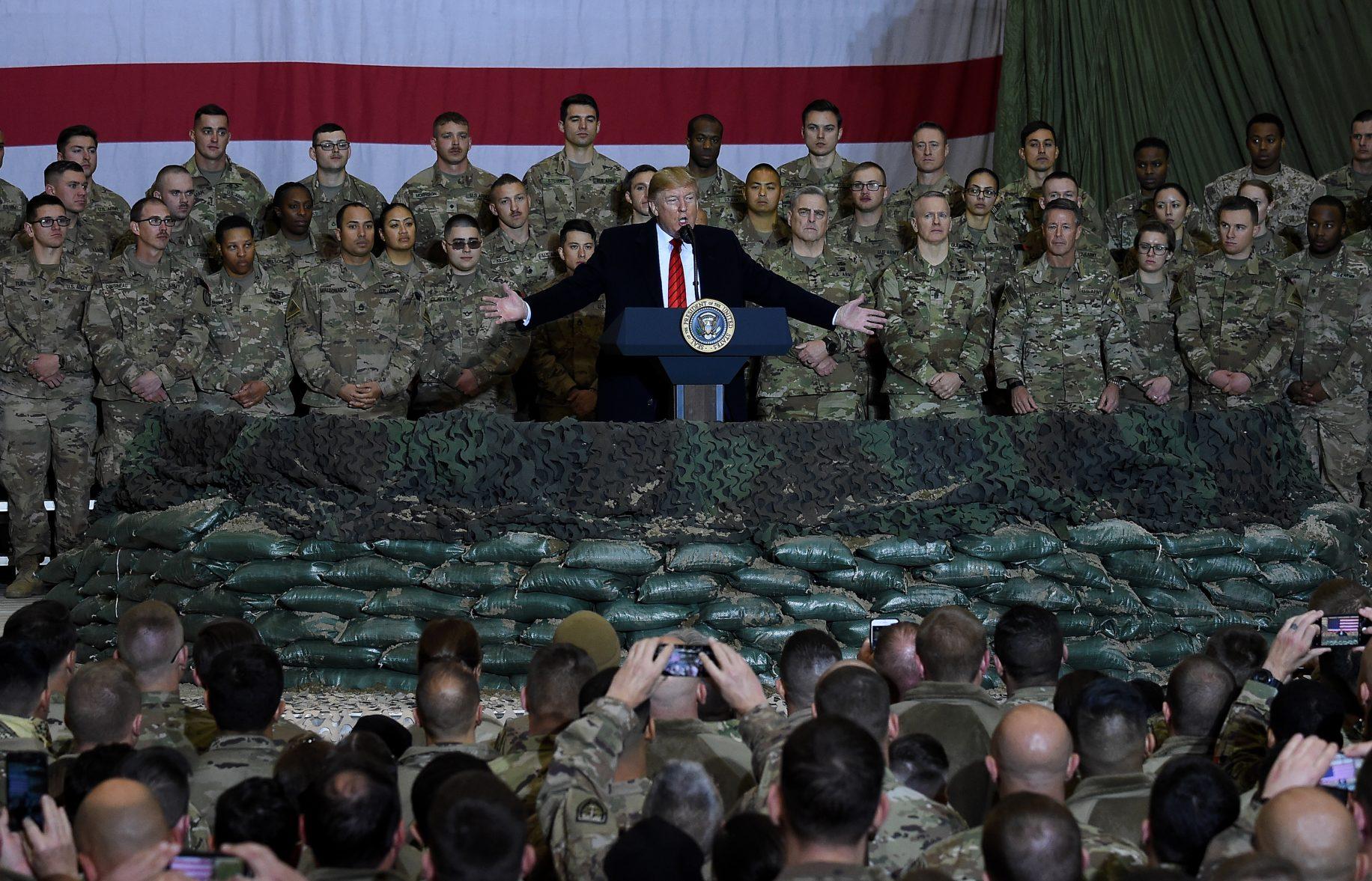 VIDEO/PICS: Trump makes surprise Afghanistan visit on ...