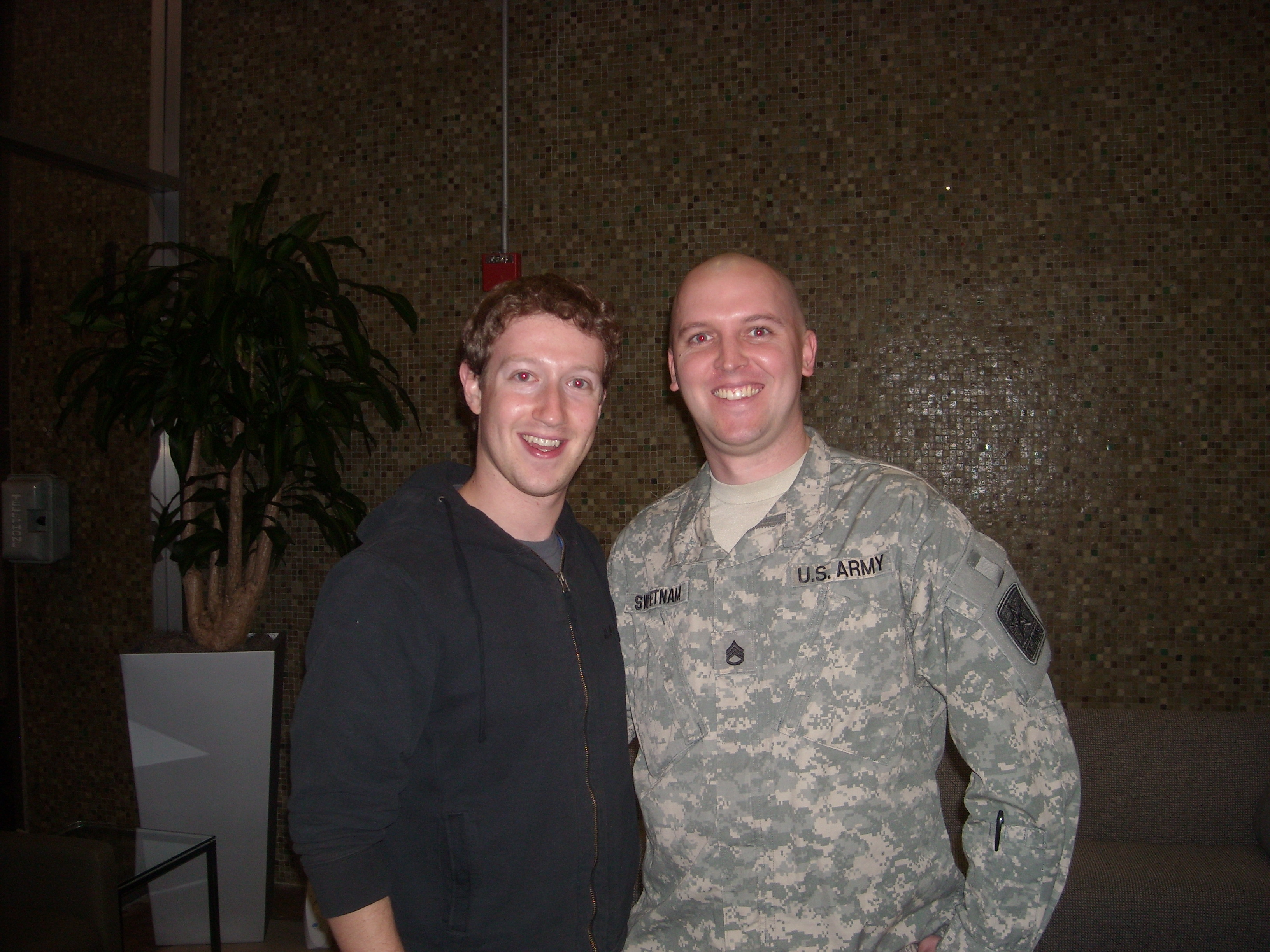 Zuckerberg With Soldier