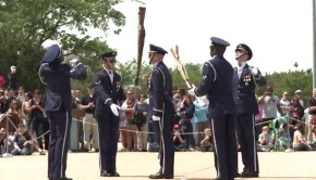 Air Force Honor Guard Drill Team Tosses Bayonets